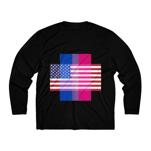 Bisexual Pride + United States = Positive Identity - Long Sleeve Tee