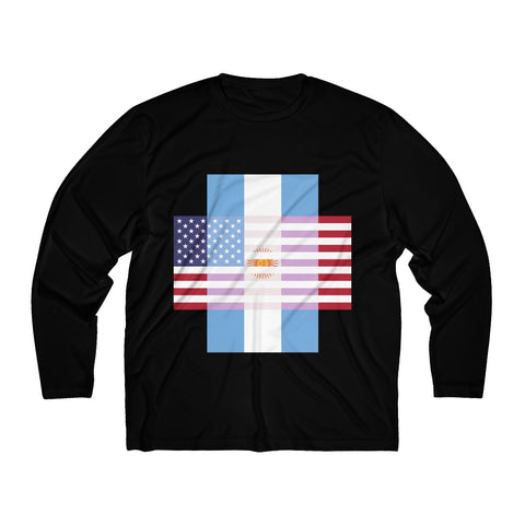 Argentina + United States = Positive Identity - Long Sleeve Tee