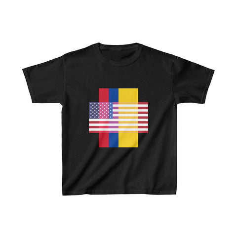 Colombia + United States = Positive Identity - Kids Tee