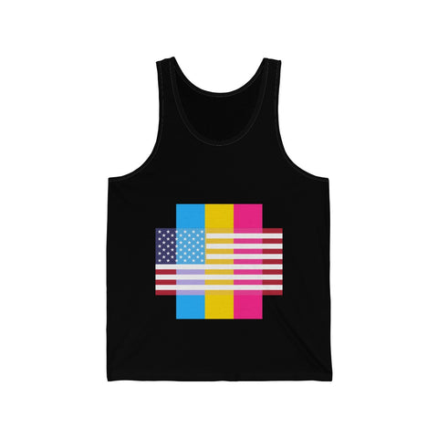 Pansexual Pride + United States - Positive Identity - Tank Top