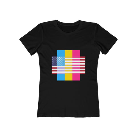 Pansexual Pride + United States = Positive Identity - Women's Tee