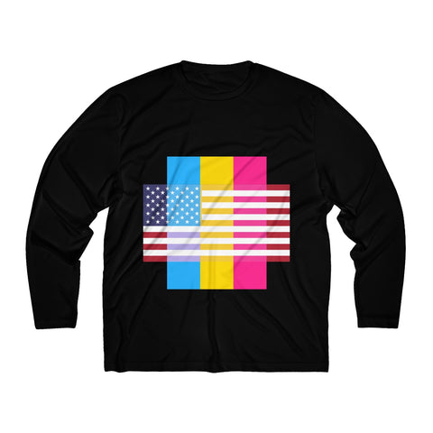 Pansexual Pride + United States - Positive Identity - Long Sleeve Tee
