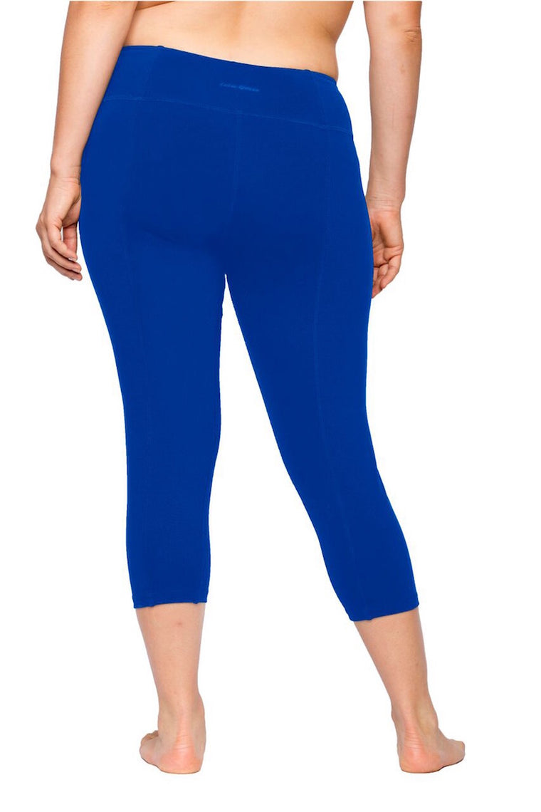 Lola Getts Skinny Capri with Compression-Royal