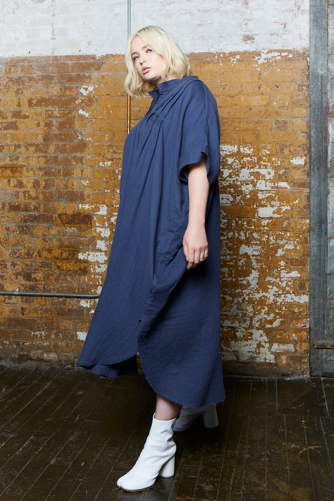 OAK pintuck dress river plus size CoverstoryNYC