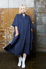 OAK pintuck maxi dress river plus size CoverstoryNYC