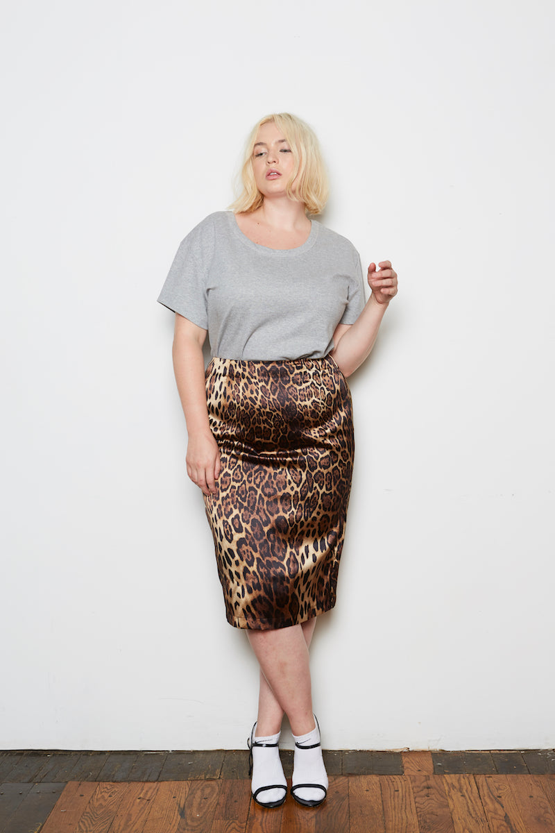 Shegul leopard skirt plus size CoverstoryNYC