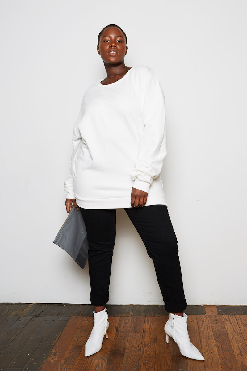 Oak Arc Sweatshirt bone plus size CoverstoryNYC