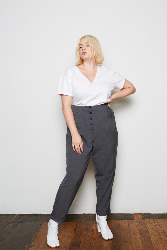 standards & practices plus sizeFrancine Hi-Rise Pants charcoal