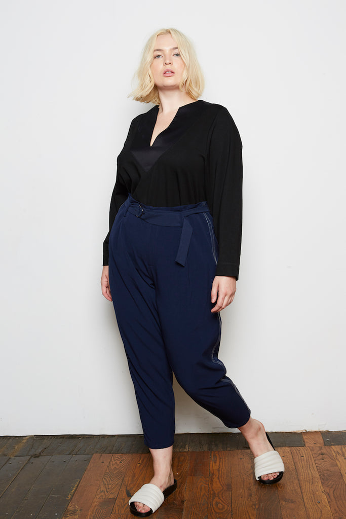 Standards & Practices Marina Pants plus size midnight blue