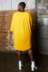 Shegul Khrstyana Knit Dress marigold plus size
