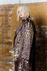Shegul leopard print trench plus size