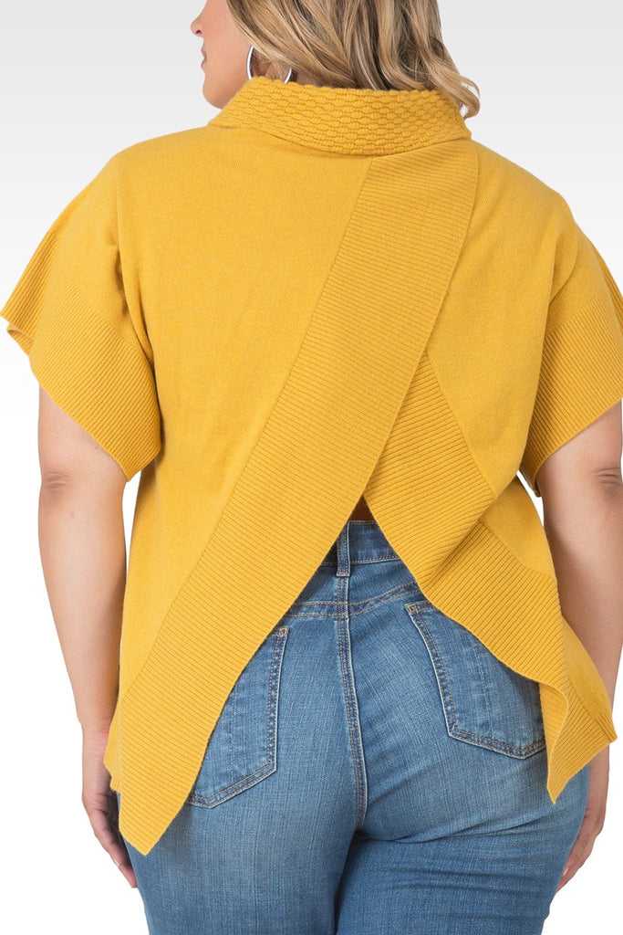 Standards & Practices - Cali Open Back Mock Neck Sweater-Harvest