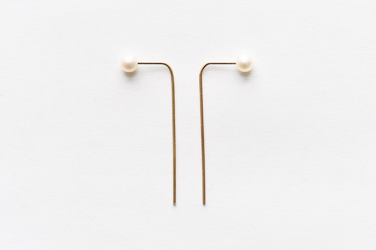 8.6.4 Pearl Bar Earrings