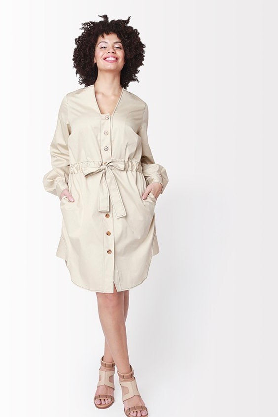 Shegul Emme Dress -Khaki