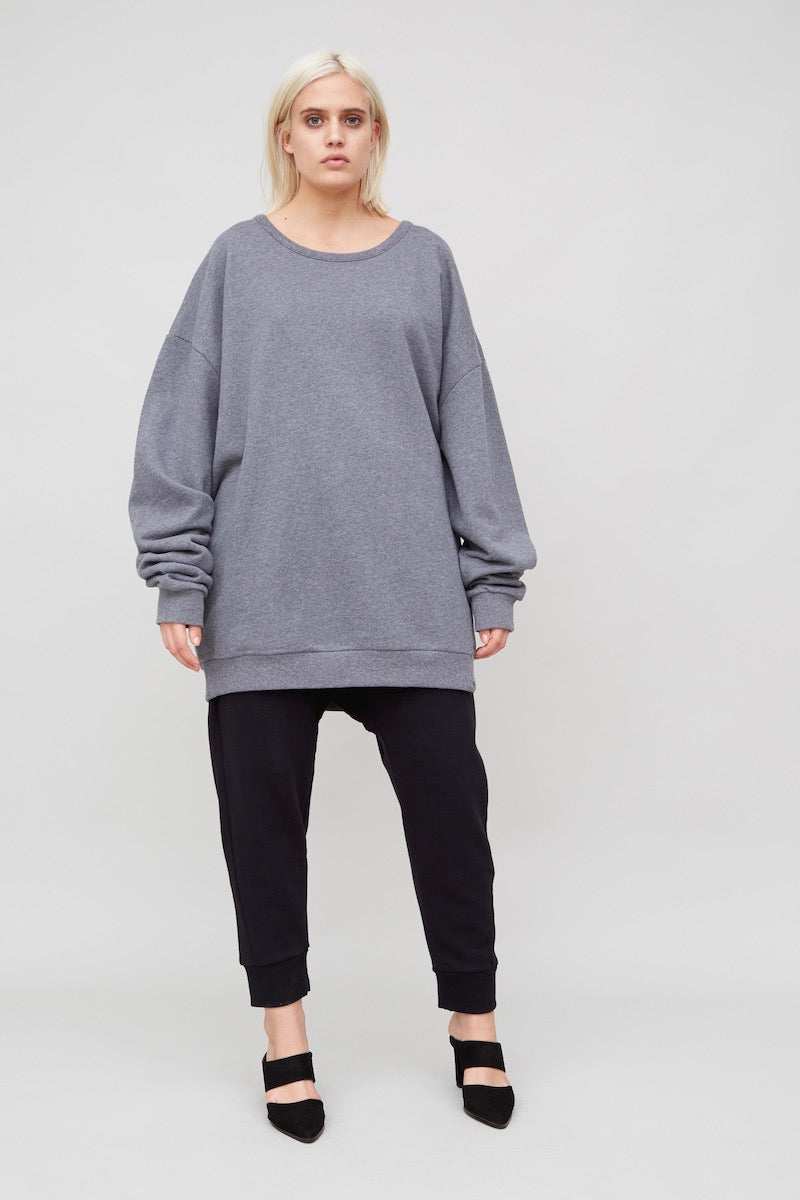Oak Arc Sweatshirt heather grey plus size Coverstory