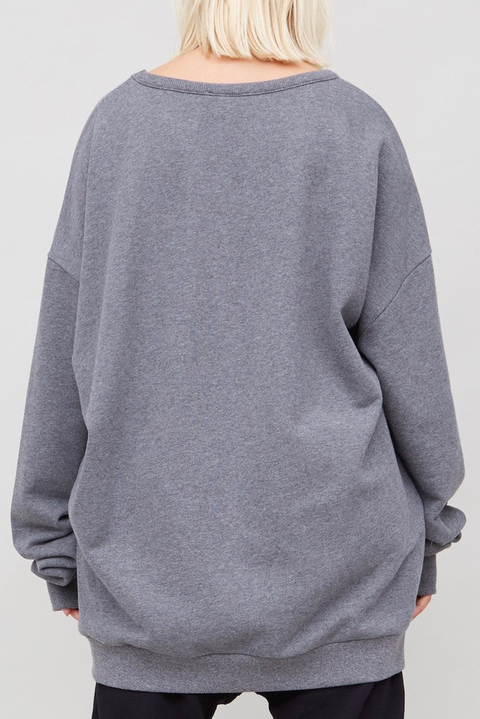 Oak Arc Sweatshirt heather grey plus size