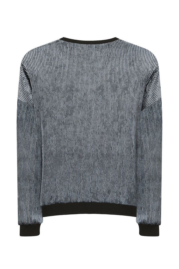 Elvi ribbed velvet sweater
