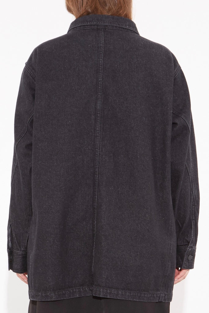 OAK Oversized Chore Jacket - Ash Black