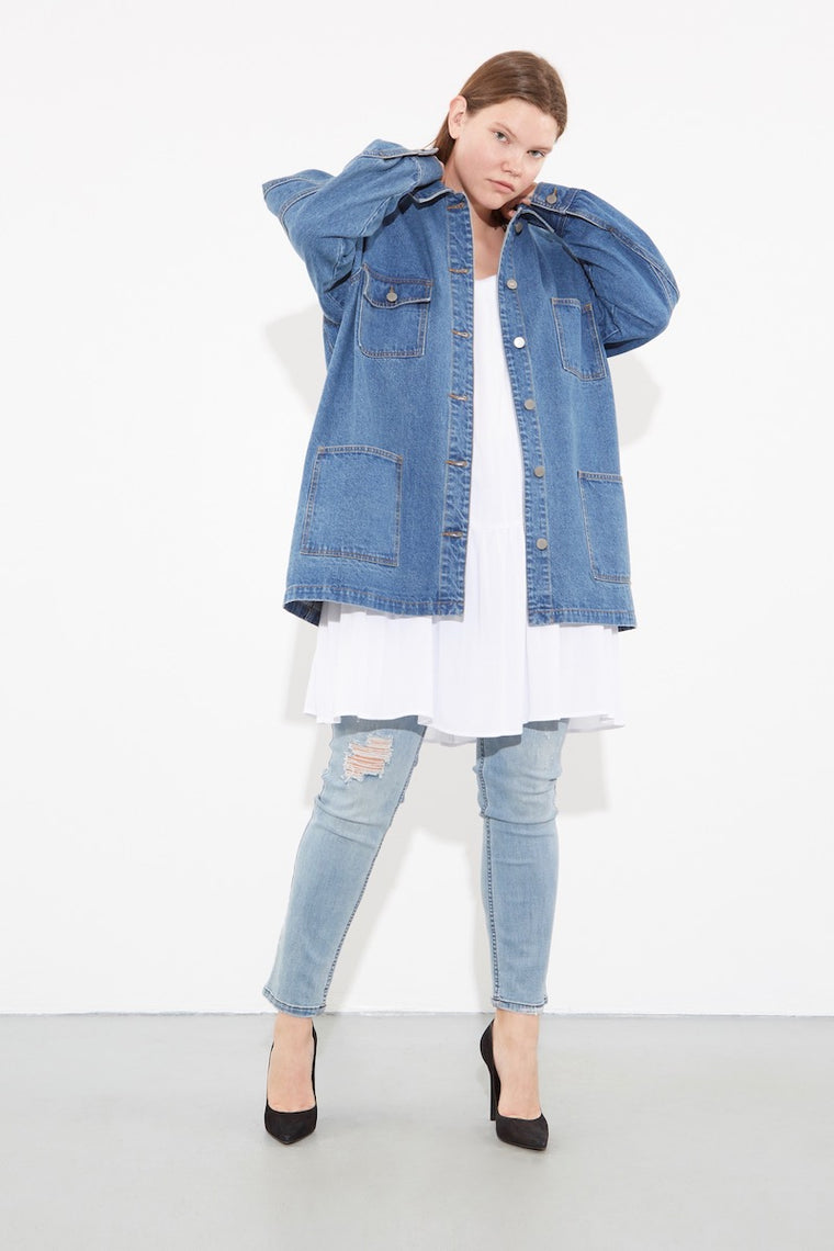 OAK Oversized Chore Jacket - Washed Blue