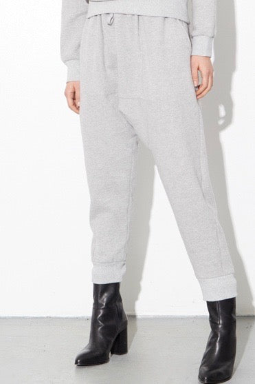 OAK Cuffed Gusset Sweatpants - Heather Gray