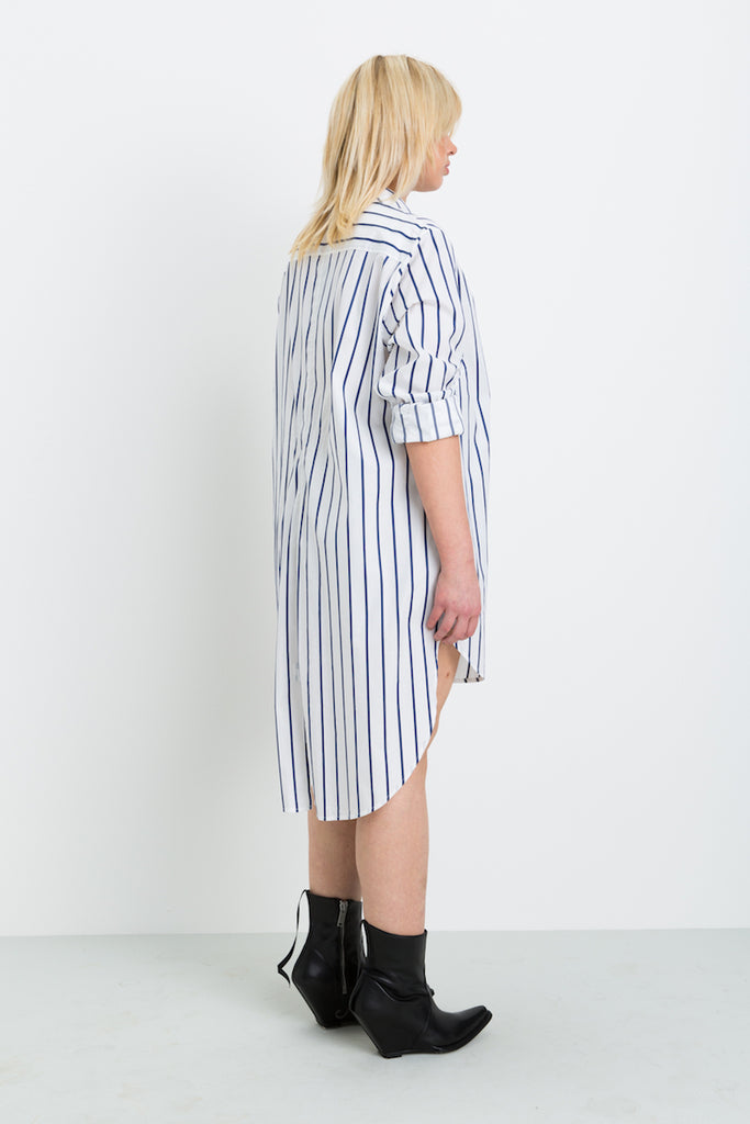 Shegul Hi-Low Hem Stripe Tunic plus size
