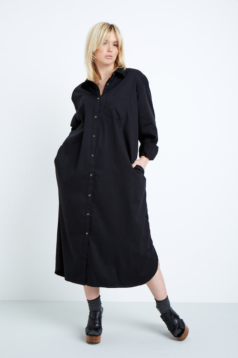 Universal Standard Georgia ShirtDress - Black