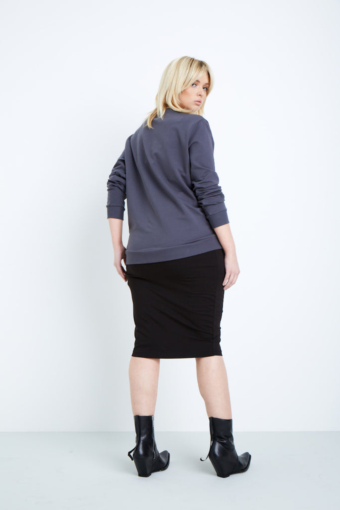 universal standard meridian pullover plus size grey