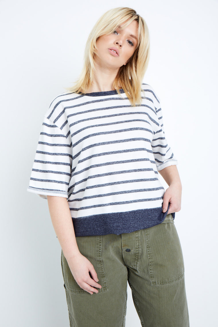 Elvi Striped Sweatshirt