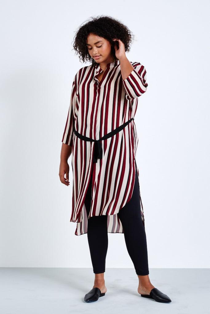elvi stripe shirtdress