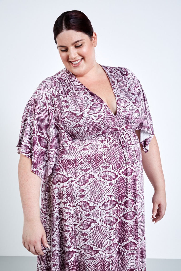 Rachel Pally Long Caftan Dress-Viper Currant