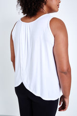 Lola Getts Tulip Back Tank- White