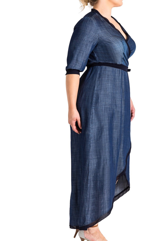 Standard & practices elle denim maxi dress plus size CoverstoryNYC