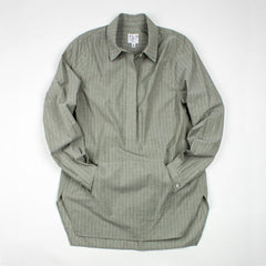 Thirteen-Seven The Trapezoid Pullover Shirt - Artichoke Stripe