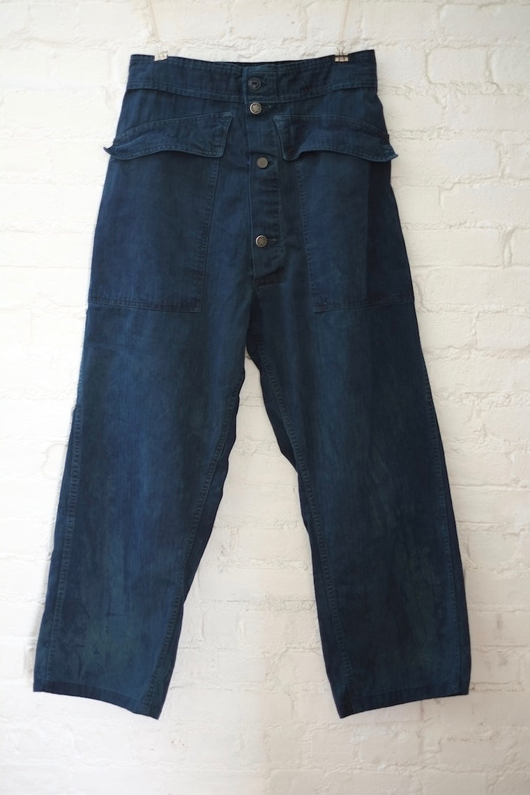As Ever Tanker Pant - Hand-dyed Indigo