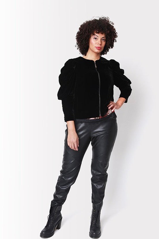 Shegul Becky Zip Front Jacket -Black