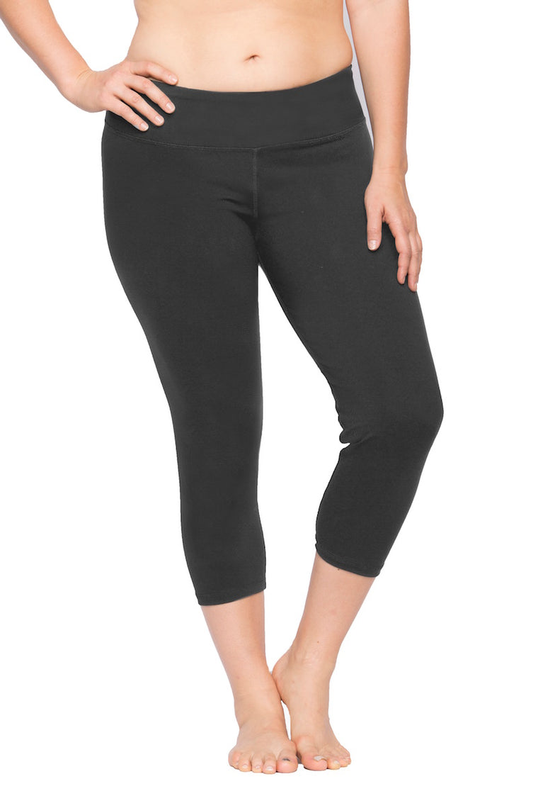 Lola Getts Skinny Capri with Compression-Dark Grey