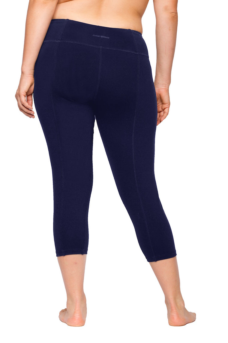 Lola Getts Skinny Capri with Compression-Navy
