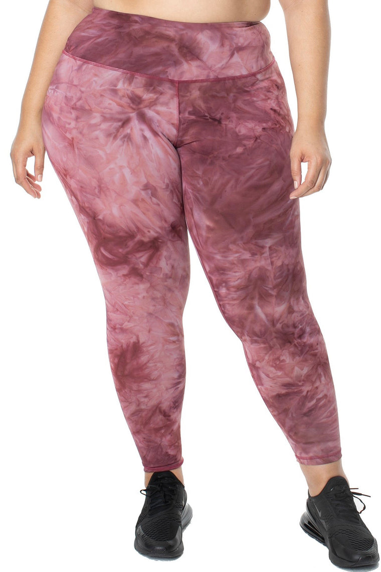 Lola Getts - High Rise Leggings - Pink Storm