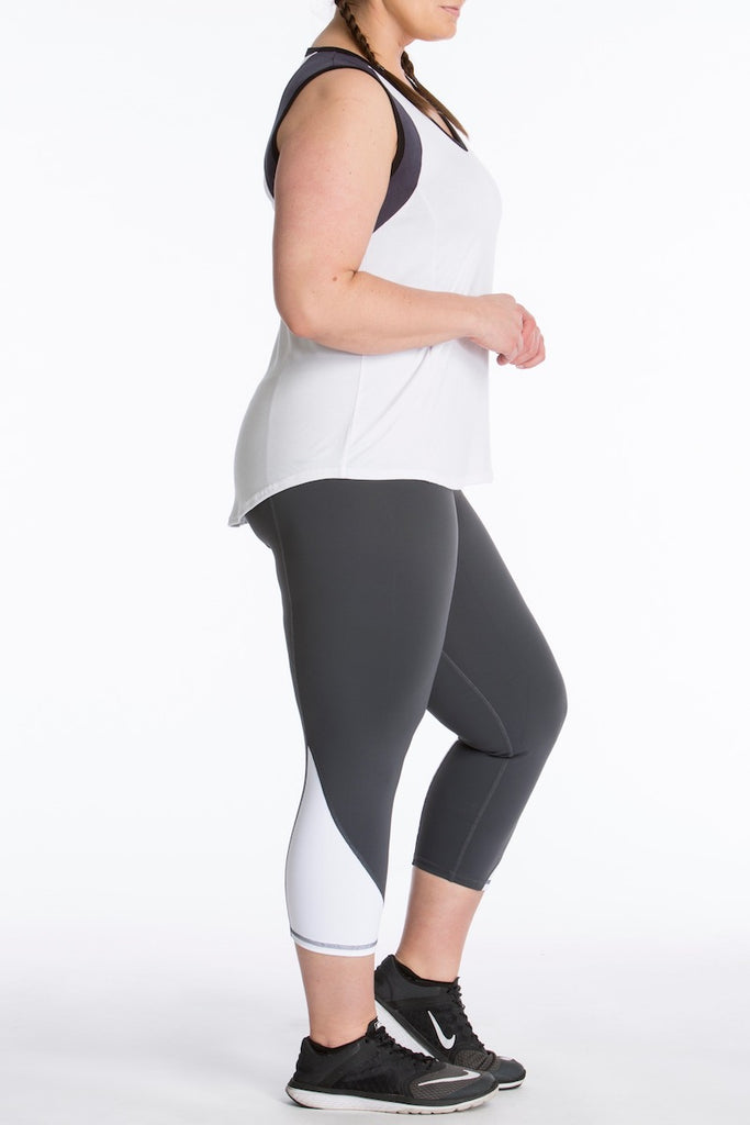 Lola Getts Color Block Muscle Tee plus size activewear Coverstory