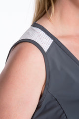Lola Getts Sport Sleeveless plus size charcoal white