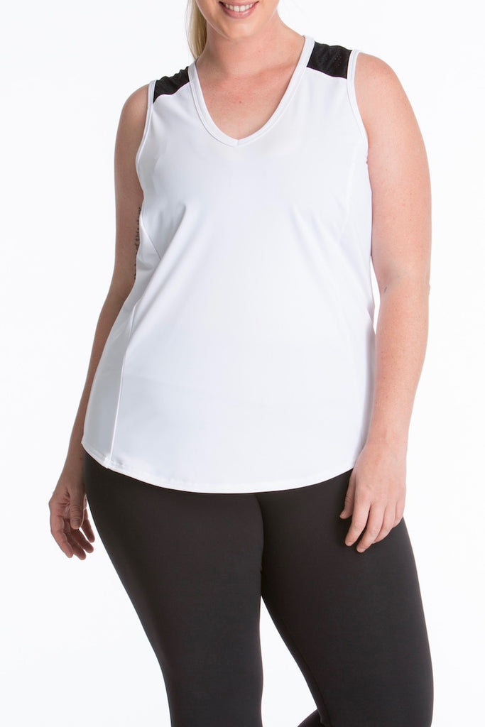 Lola Getts Sport Sleeveless Plus size white black CoverstoryNYC