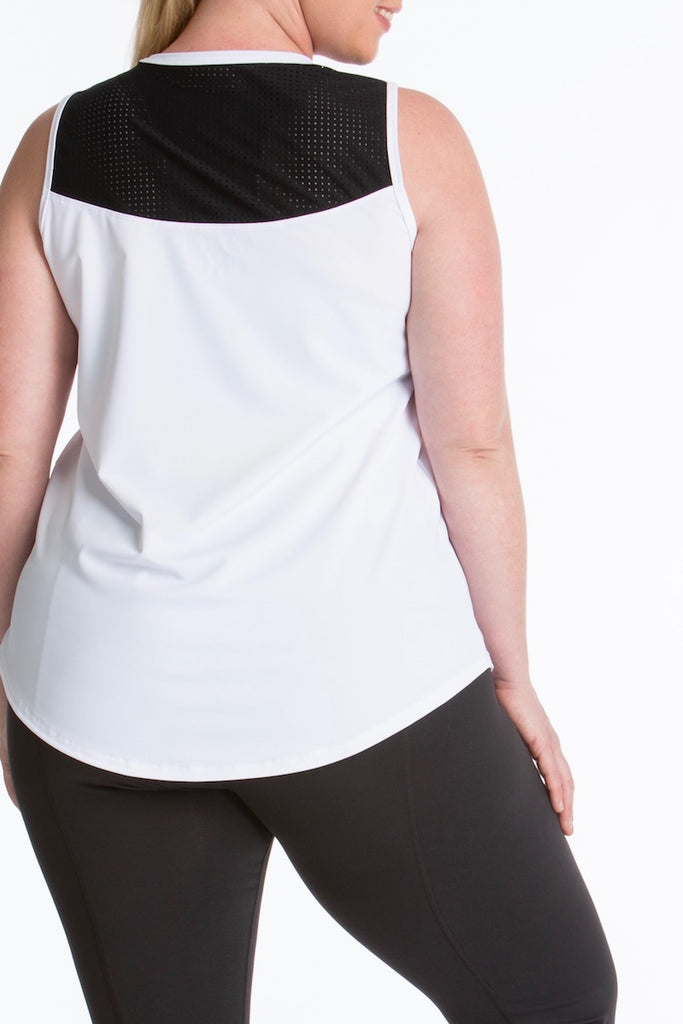 Lola Getts Sport Sleeveless Plus size white black