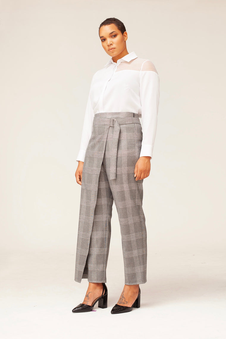 Van Der Nag Gioia Pants - Grey Plaid