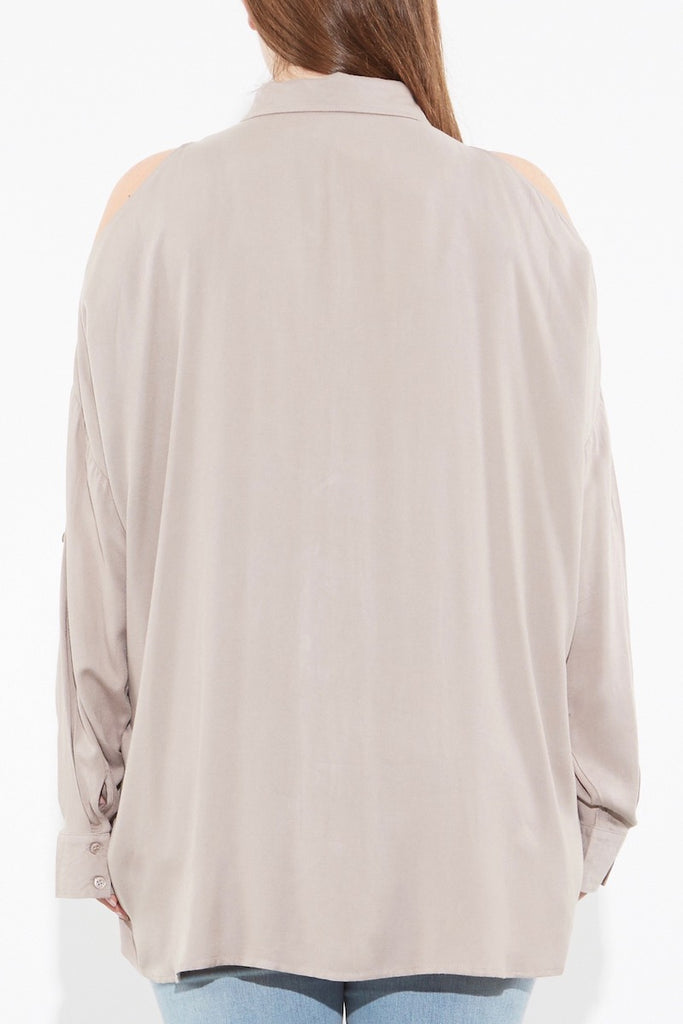 Oak Norma shirt plus size taupe