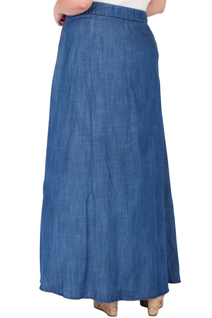 Standard & Practices Zalena Denim Maxi Skirt coverstory