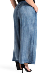 Standard & Practices Sophi Denim Culottes plus size Coverstory