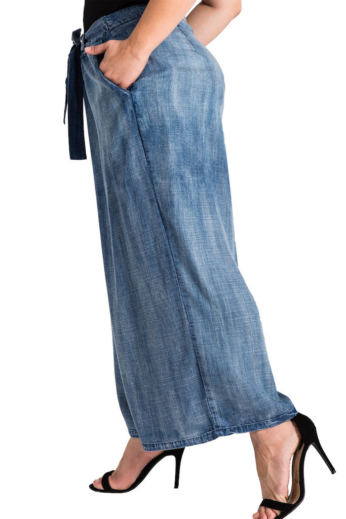 Standard & Practices Sophi Denim Culottes plus size coverstorynyc