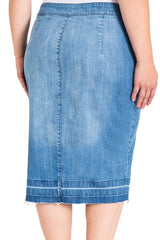 Standard & Practices Harley Denim Pencil Skirt plus size CoverstoryNYC