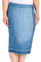 Standard & Practices Harley Denim Pencil Skirt plus size