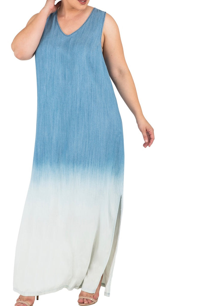 Standard & Practices Kori Maxi Denim Dress plus size CoverstoryNYC